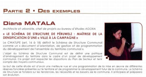 """""""LE SCHÉMA DE STRUCTURE DE PÉRUWELZ : MAÎTRISE DE LA DENSIFICATION D'UNE « VILLE À LA CAMPAGNE » PAR DIANA MATALA"""