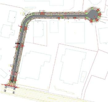 Réfection des trottoirs et de la voirie, et aménagement d'une zone de parking sur le site Mercator de la SDRB - bureau agora