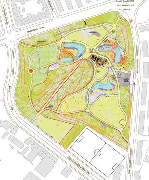 Réaménagement du Parc Marie-José à Molenbeek-Saint-Jean - bureau agora